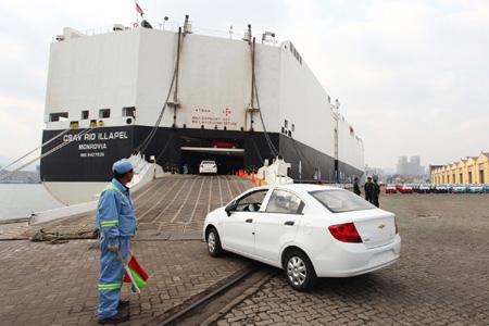 上海通用雪佛兰新赛欧实现批量出口高清图片