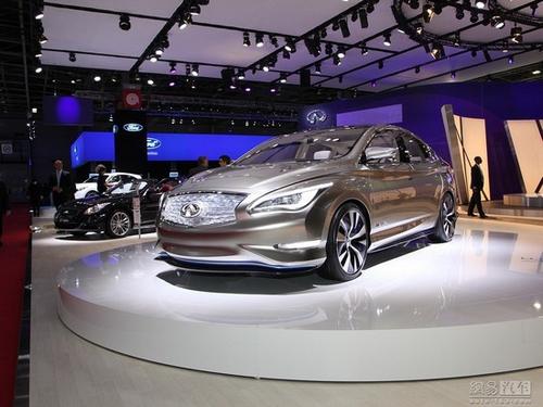 英菲尼迪品牌正式发布英菲尼迪le概念车.le概念车是一款纯电高清图片