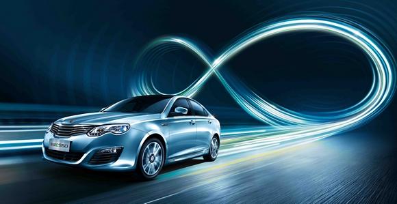 """荣威e550获得了《经济观察报》""""2015年度畅销新能源汽车""""高清图片"""